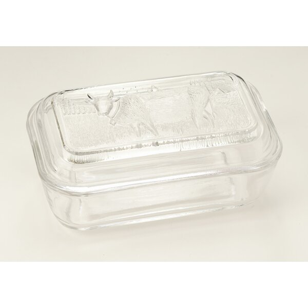 Glass Cow Butter Dish by Charlton Home