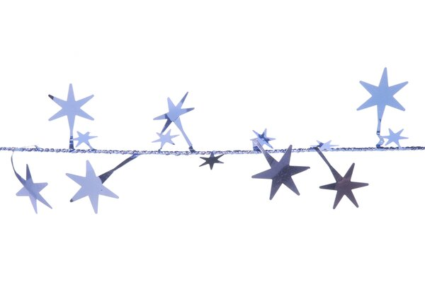 Gold Foil Assorted Star Garland by The Holiday Aisle