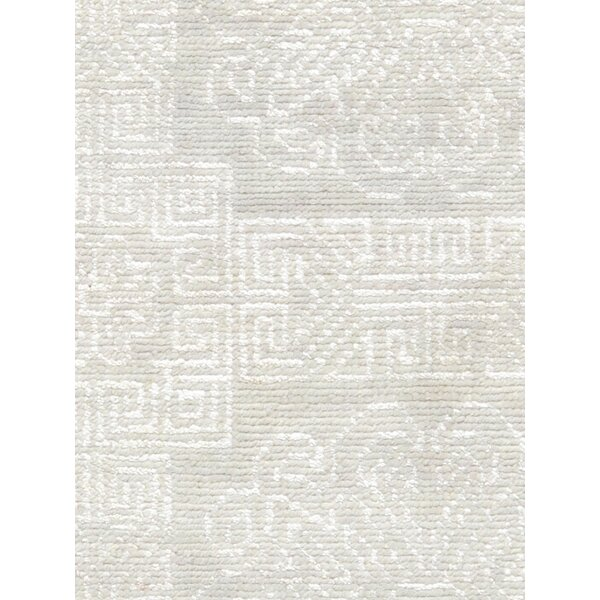 Transitional Hand Knotted Wool Ivory Area Rug by Pasargad