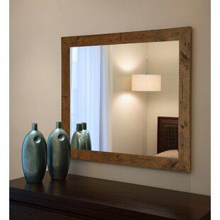 Rustic Light Walnut Wall Mirror