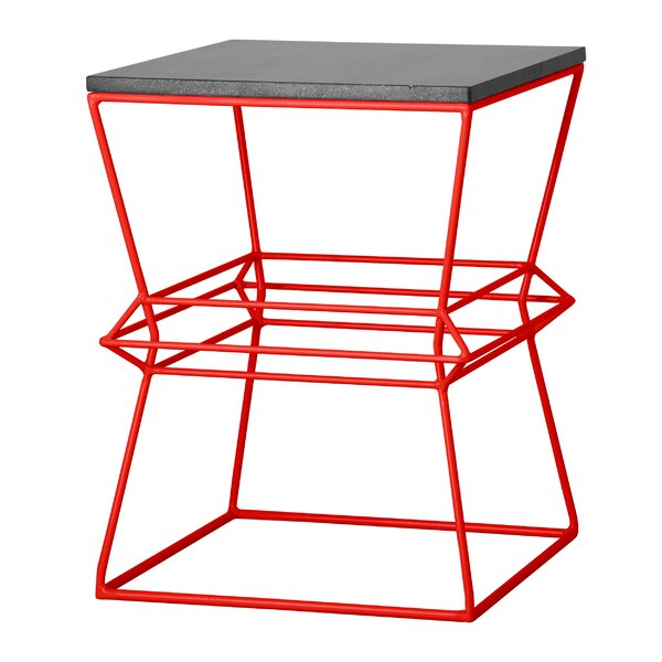 Vector Metal/Granite Accent Stool by Emissary Home and Garden