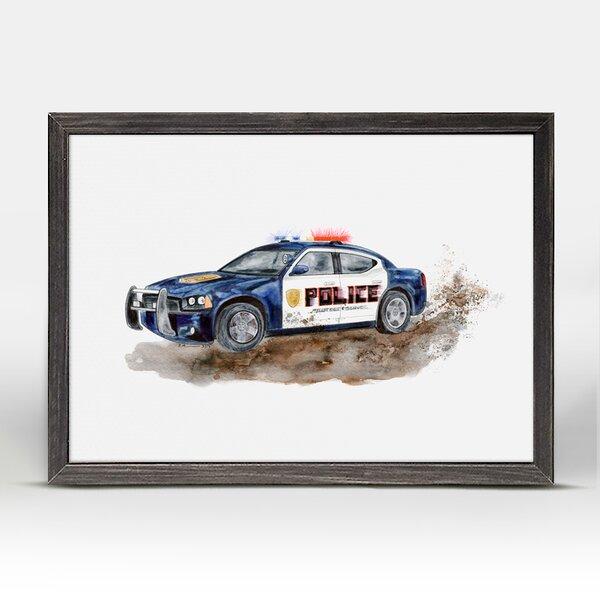 Kelvin Police Car Mini Framed Canvas Art by Harriet Bee