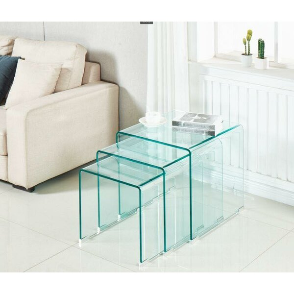 Piontek 3 Piece Nesting Table by Orren Ellis