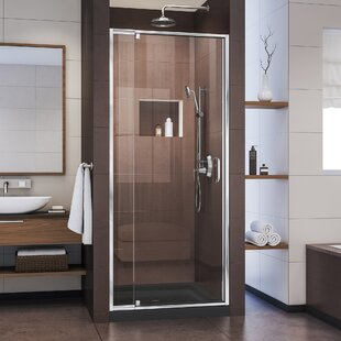 Compare prices Flex 28-32 in. W x 72 in. H Semi-Frameless Pivot Shower Door ByDreamLine