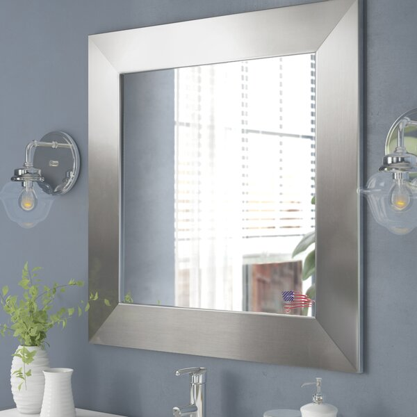 Wide Square Wall Mirror by Wade Logan