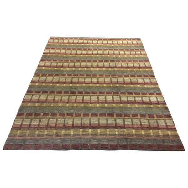 One-of-a-Kind Chamorro Hand-Knotted Wool Red Area Rug by Red Barrel Studio