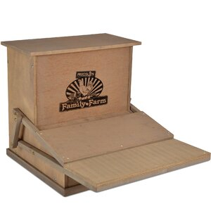 Wood Treadle Chicken Feeder