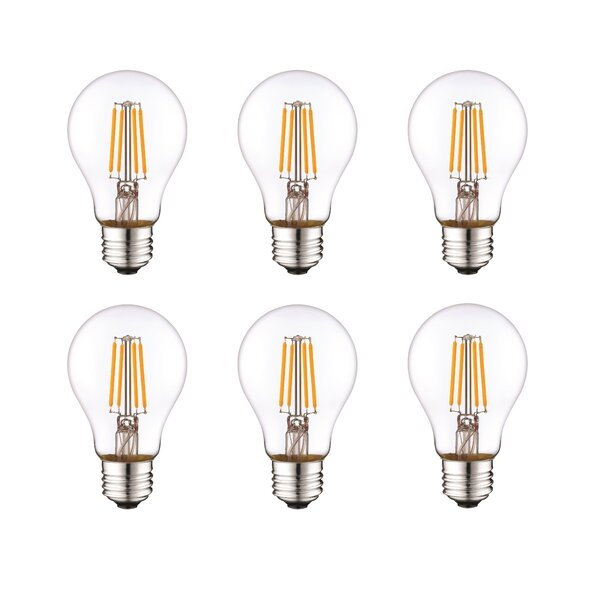 5W E26 Dimmable LED Light Bulb Frosted (Set of 6) by Aspen Brands