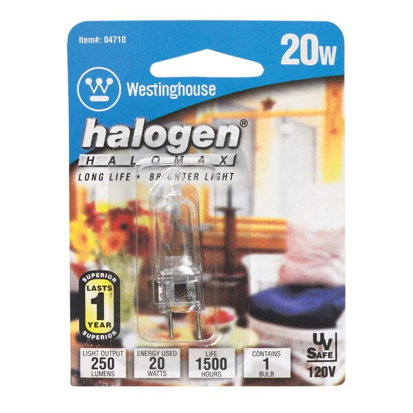 20W GU7.9 Dimmable Halogen Edison Capsule Light Bulb by Westinghouse Lighting