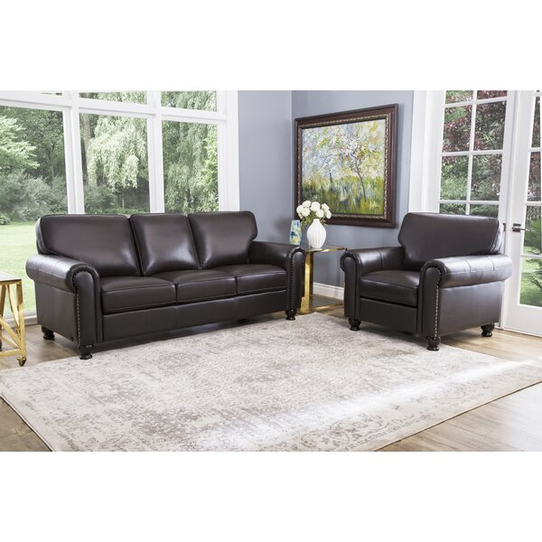 Bella Vista 2 Piece Leather Living Room Set by Three Posts