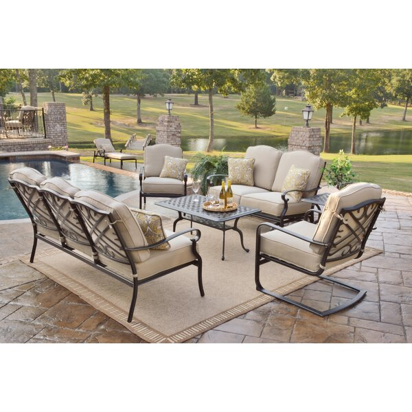 Fritsch Sunbrella Deep Seating Group with Cushion by Three Posts