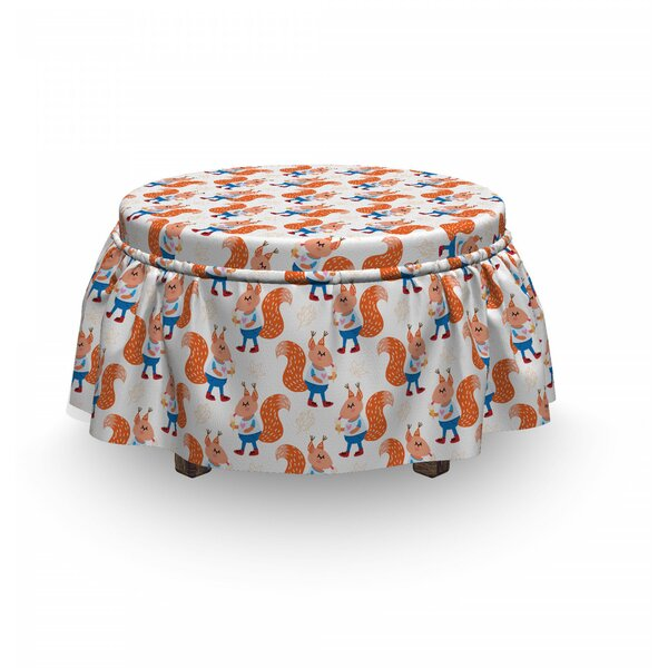 Animals Eating Ice Cream Ottoman Slipcover (Set Of 2) By East Urban Home
