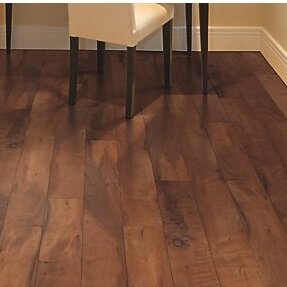 Hanbridge 5.25 x 47.25 x 11.93mm Walnut Laminate Flooring in Brown by Mohawk Flooring