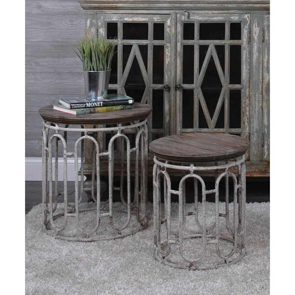 Wright 2 Piece End Table By One Allium Way