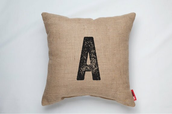 Dolton Letter A Decorative Burlap Throw Pillow by Gracie Oaks