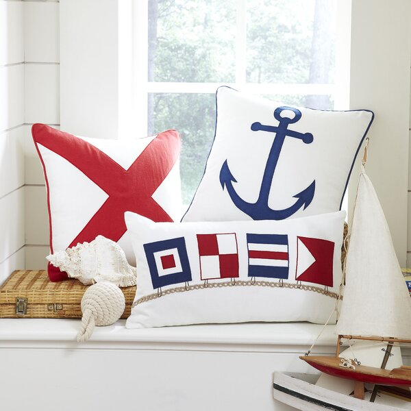 Flag Time Lumbar Pillow Cover by Birch Lane Kids™