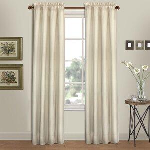 Westwood Solid Semi-Sheer Rod Pocket Curtain Panels (Set of 2)