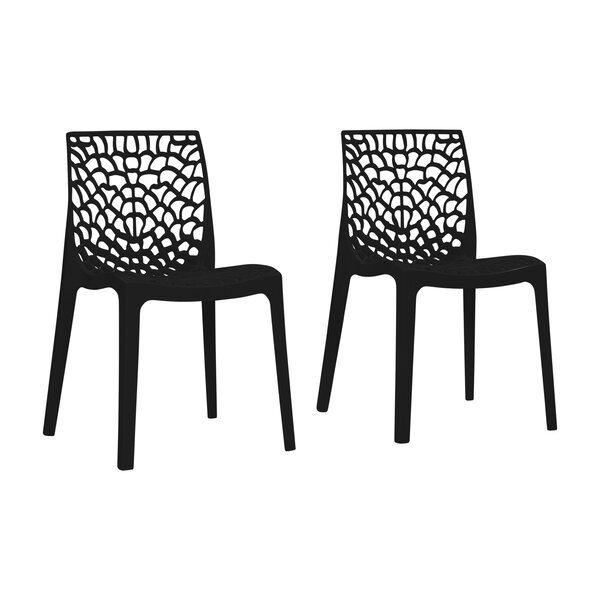 Jasiah Stacking Patio Dining Chair (Set of 2) by Brayden Studio