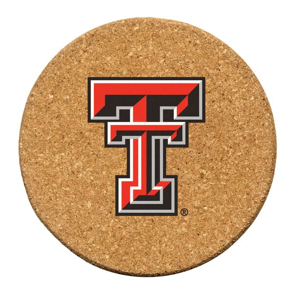 Texas Tech University Cork Collegiate Coaster Set (Set of 6) by Thirstystone