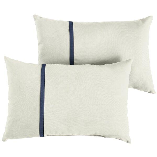 Foskey Indoor/Outdoor Sunbrella Lumbar Pillow (Set of 2) by Charlton Home