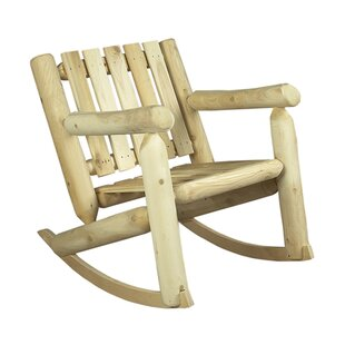 Low Back Indoor / Outdoor Cedar Rocking Chair Rustic Natural Cedar Furniture