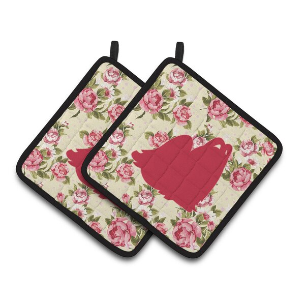 Maltese Potholder (Set of 2) by East Urban Home