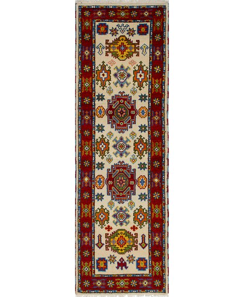 One-of-a-Kind Doering Traditional Hand-Knotted Wool Cream Area Rug by Isabelline