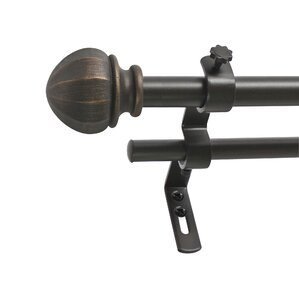 Nice Facet Ball Double Curtain Rod And Hardware Set