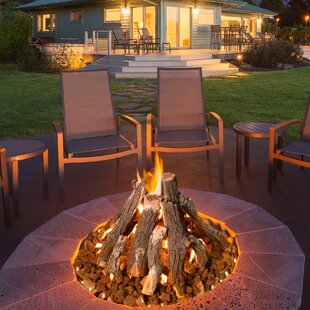 Bar height fire pit table wayfair stainless steel wood burning fire pit table watchthetrailerfo