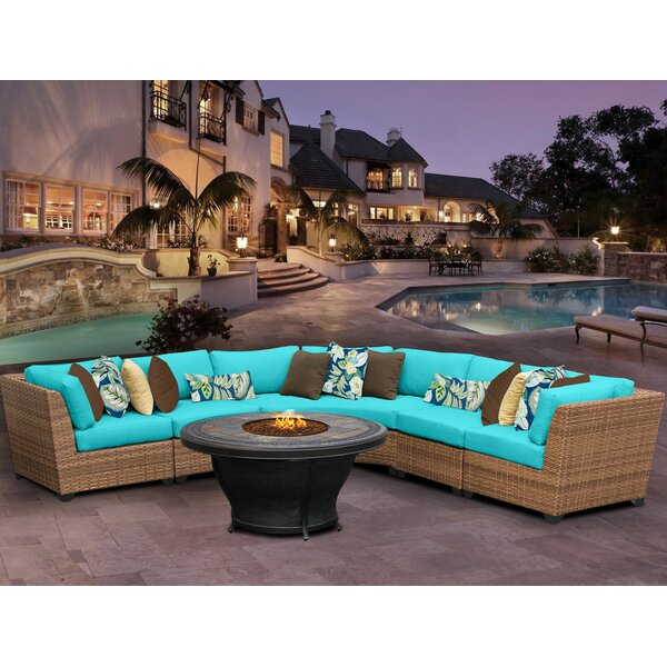 East Village 6 Piece Sectional Set With Cushions by Rosecliff Heights
