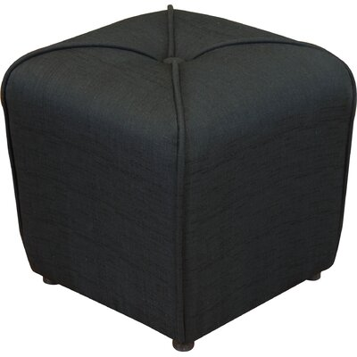 Bellatrix Tufted Cube Ottoman Upholstery Color: Black by Andover Mills