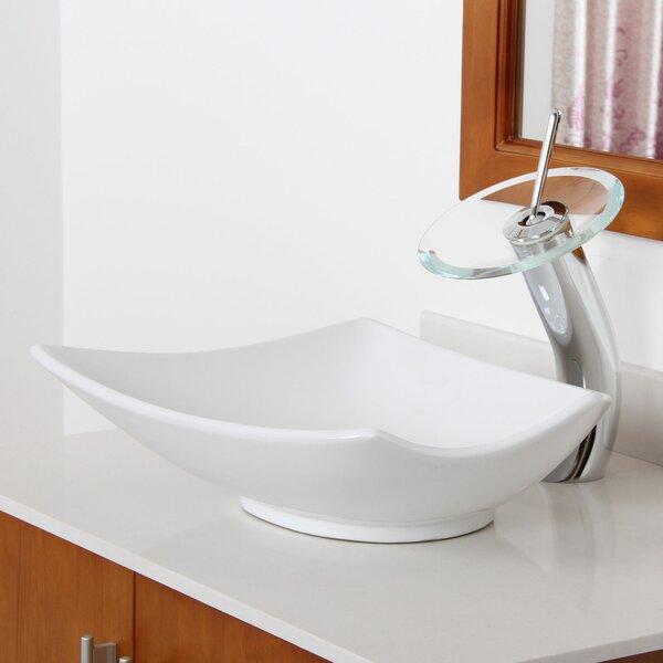 Ceramic Specialty Vessel Bathroom Sink by Elite