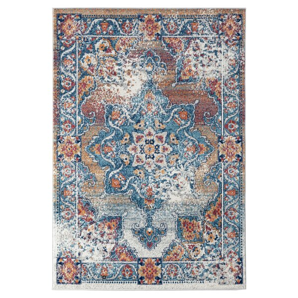 Honig Gray/Blue Area Rug by Charlton Home