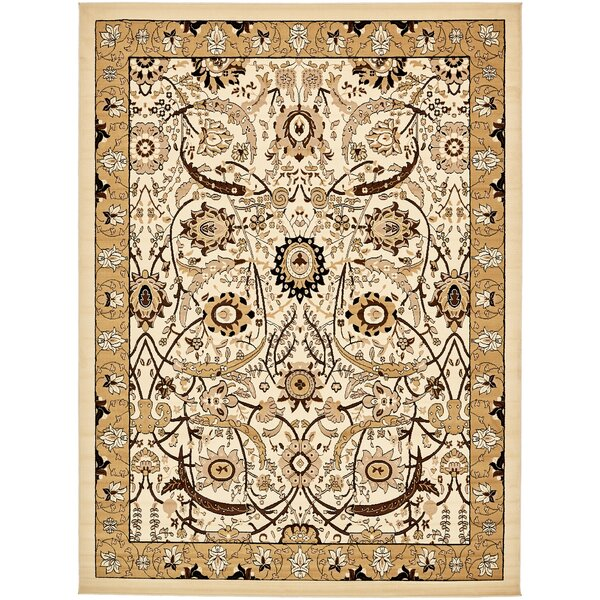 Britannia Ivory Area Rug by World Menagerie