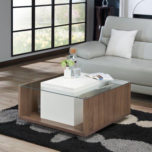 Halterman Floor Shelf Coffee Table With Storage By Brayden Studio