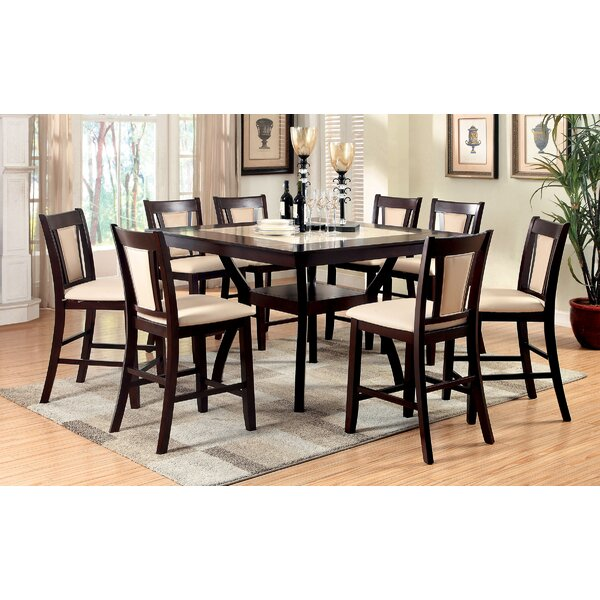 Brent II 9 Piece Counter Height Solid Wood Dining Set by Williams Import Co. Williams Import Co.