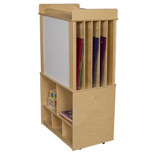 Contender Mobile Magnetic Teaching Cart with Bins by Wood Designs