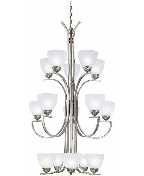 Chicago 15 - Light Shaded Tiered Chandelier by Volume Lighting Volume Lighting