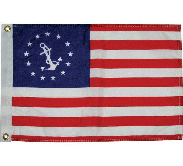 Dyed U.S. Yacht Ensign Traditional Flag by Taylor Made Products