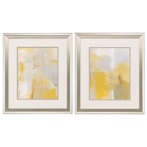 'Oasis' 2 Piece Framed Painting Print Set by Ivy Bronx