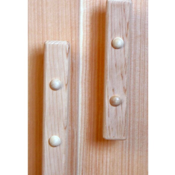 Cedar Dummy Door Knob (Set of 2) by Baltic Leisure