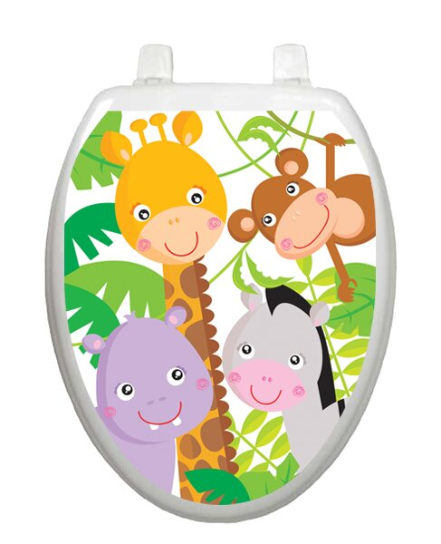 Gentle Jungle Toilet Seat Decal by Toilet Tattoos