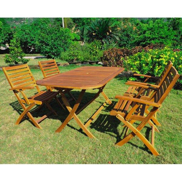Netherton 5 Piece Dining Set by Beachcrest Home