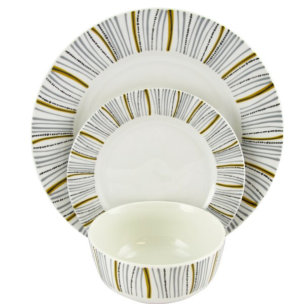 Lenwood Decorated 12 Piece Dinnerware Set, Service for 4 by Ebern Designs
