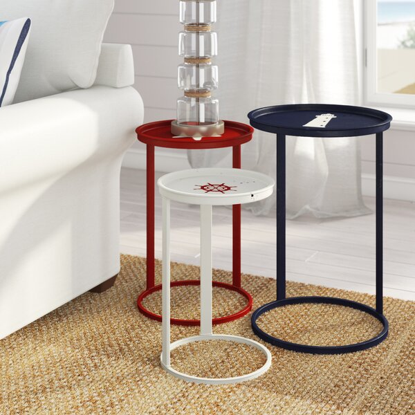 Garrison 3 Piece Nesting Table Set by Beachcrest Home
