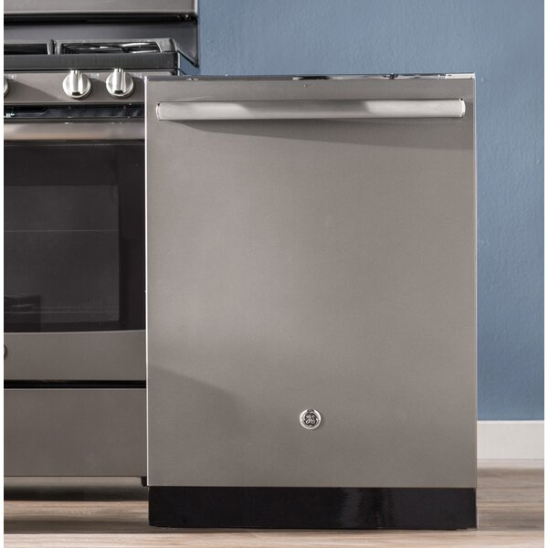 24 45 dBA Built-In Dishwasher with 3rd Rack and Hidden Controls by GE Appliances