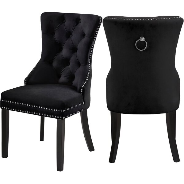 Stonefort Tufted Velvet Upholstered Dining Chair (Set Of 2) By Darby Home Co