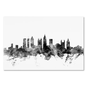 'Atlanta Georgia Skyline' Graphic Art on Wrapped Canvas by Ivy Bronx