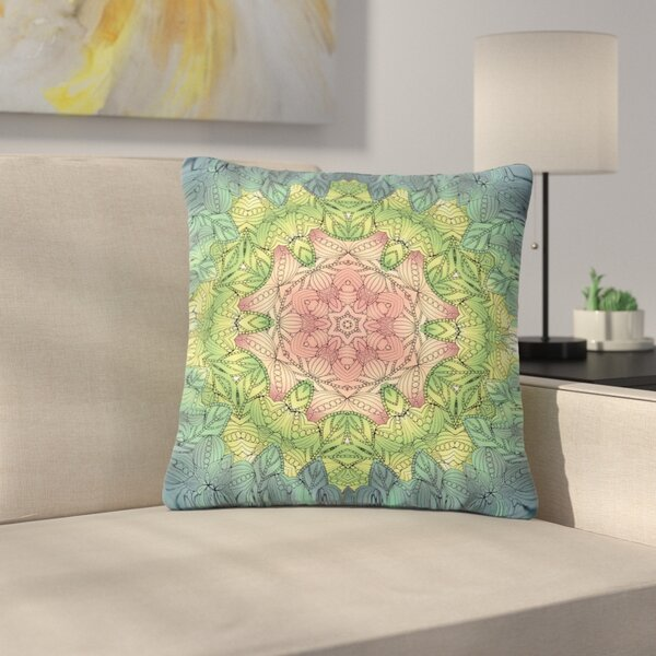 Art Love Passion Celtic Flower Outdoor Throw Pillow by East Urban Home