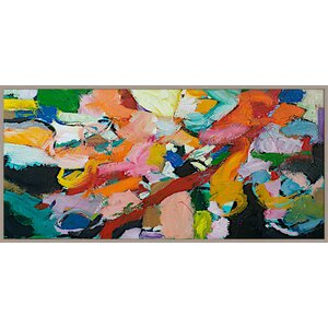 Brush of Color Abstract Giclée Framed Painting Print by PTM Images